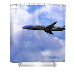 Air Force One - Mcdonnell Douglas - Dc-9 Shower Curtain by Jason Politte