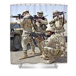 Shower Curtain featuring the photograph Air Force Squadron by Science Source