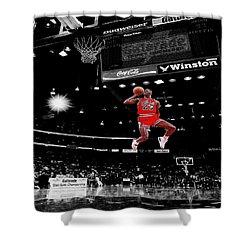 Air Jordan Shower Curtain by Brian Reaves
