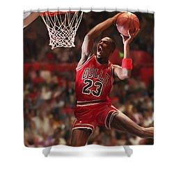 Air Jordan Shower Curtain by Mark Spears