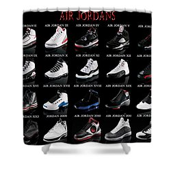 Air Jordan Shoe Gallery Shower Curtain by Brian Reaves