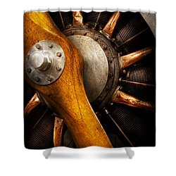 Air - Pilot - You Got Props Shower Curtain by Mike Savad