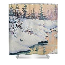 Alaska Gold Shower Curtain by Teresa Ascone