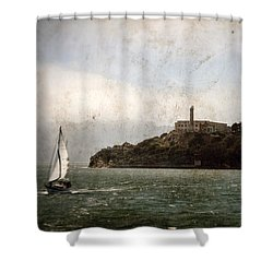 Alcatraz Island Shower Curtain by RicardMN Photography