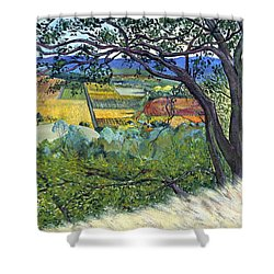 Alexander Valley Vinyards Shower Curtain by Asha Carolyn Young