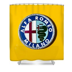 Alfa Romeo Emblem Shower Curtain by Jill Reger