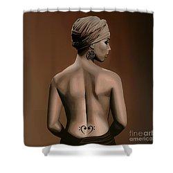 Alicia Keys  Shower Curtain by Paul Meijering