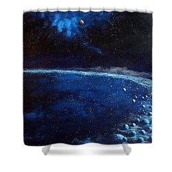 Alien Storm Shower Curtain by Murphy Elliott
