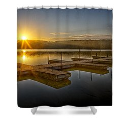 All By Myself Shower Curtain by Jeff Burton