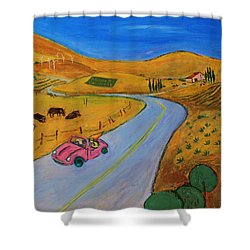 All My Loving I Will Send To You Shower Curtain by Xueling Zou