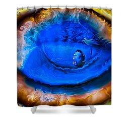 All Seeing Eye Shower Curtain by Omaste Witkowski