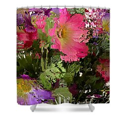 All The Flower Petals In This World 3 Shower Curtain by Kume Bryant