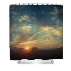 All You Leave Behind Shower Curtain by Taylan Apukovska