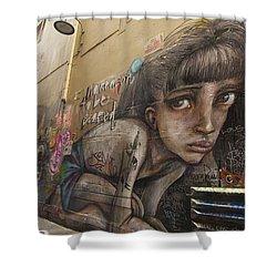 Alley Graffiti #2 Shower Curtain by Stuart Litoff