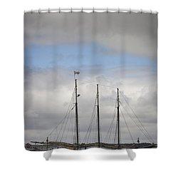 Alliance Charter Schooner Shower Curtain by Teresa Mucha