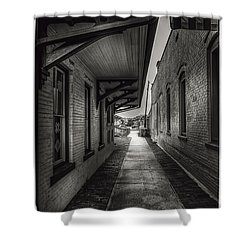 Alley To The Trains Shower Curtain by Marvin Spates