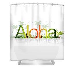 Aloha - Hawaii Shower Curtain by Aged Pixel