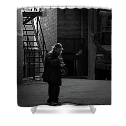 Alone In The Streets Shower Curtain by Karol Livote