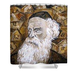 Alter Rebbe Shower Curtain by Leon Zernitsky