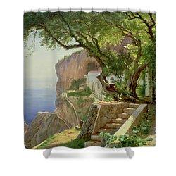 Amalfi Shower Curtain by Carl Frederick Aagaard