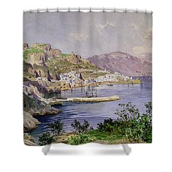 Amalfi Shower Curtain by Ludwig Hans Fischer