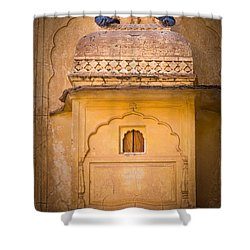 Amber Fort Birdhouse Shower Curtain by Inge Johnsson