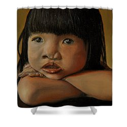 Amelie-an 4 Shower Curtain by Thu Nguyen