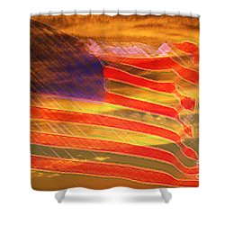 America Distress Shower Curtain by Beverly Guilliams
