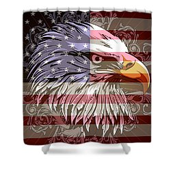 Shower Curtain featuring the digital art America The Beautiful by Stanley Mathis
