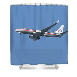 American Airlines Jet 7d21917 Shower Curtain by Wingsdomain Art and Photography