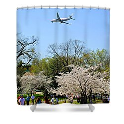 American Airlines Shower Curtain by Jost Houk