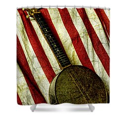 American Banjo Shower Curtain by Kristie  Bonnewell