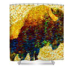 American Bison Shower Curtain by Jack Zulli