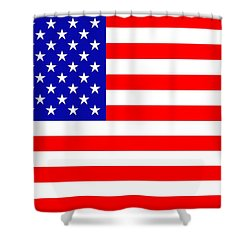 American Flag Shower Curtain by Toppart Sweden