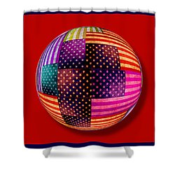 American Flags Orb Shower Curtain by Tony Rubino