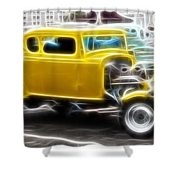 American Grafitti Coupe Shower Curtain by Steve McKinzie
