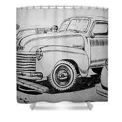 American Made Shower Curtain by Stacy C Bottoms