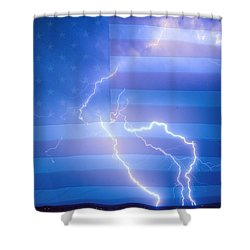 American Mother Nature's Fireworks  Shower Curtain by James BO  Insogna