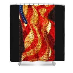 American Nude Shower Curtain by Joseph J Stevens