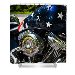 American Ride Shower Curtain by Adam Romanowicz