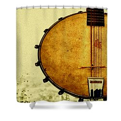 Americana Music Shower Curtain by Bill Cannon