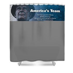 America's Team Poetry Art Shower Curtain by Stanley Mathis