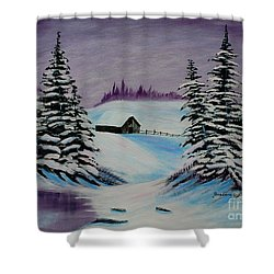 Amethyst Evening After Ross Shower Curtain by Barbara Griffin