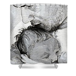 Amit And Mika Shower Curtain by Tamir Barkan