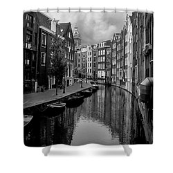 Amsterdam Canal Shower Curtain by Heather Applegate