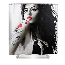 'amy' Shower Curtain by Christian Chapman Art