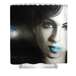 Amy Winehouse - 'amy 'n' Blues' Shower Curtain by Christian Chapman Art