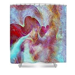 An Angels Love Shower Curtain by Linda Sannuti