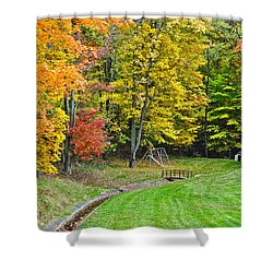 An Autumn Childhood Shower Curtain by Frozen in Time Fine Art Photography
