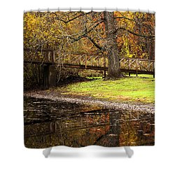 An Autumns Moment Shower Curtain by Karol Livote